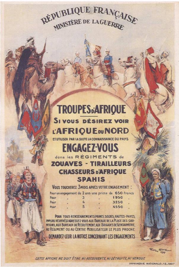 Affiche engagement armee afrique
