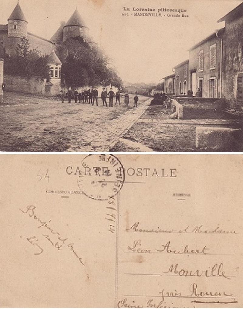 Aubert a manonville meurthe et moselle le 25 septembre 1914