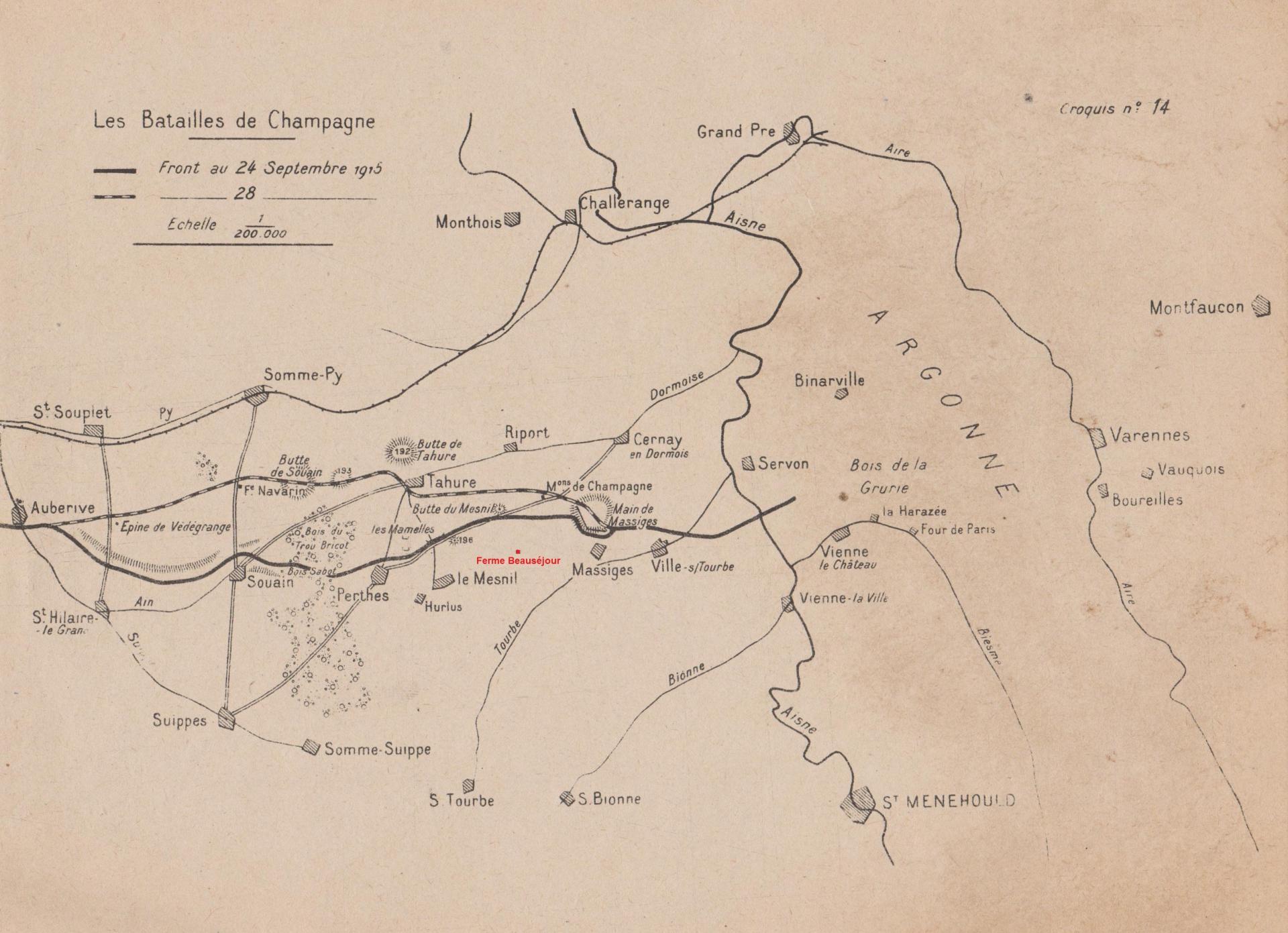 Carte du front 1