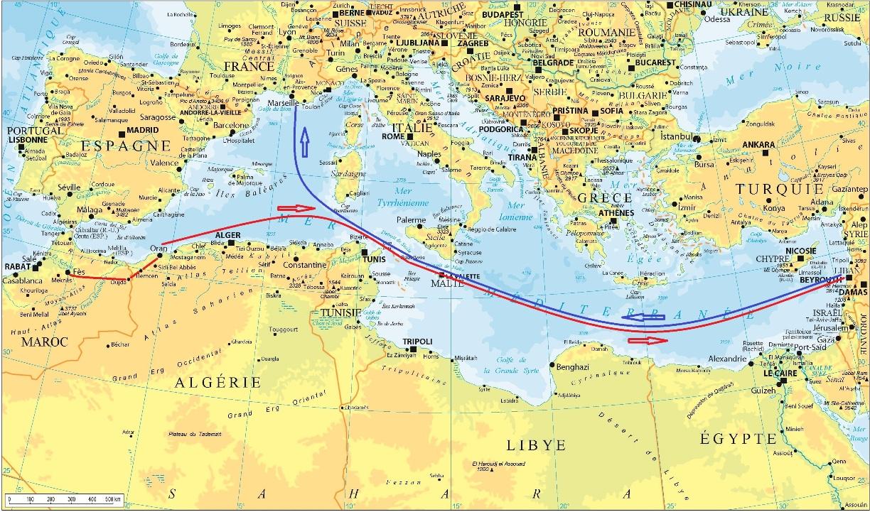 Carte mediterranee 5