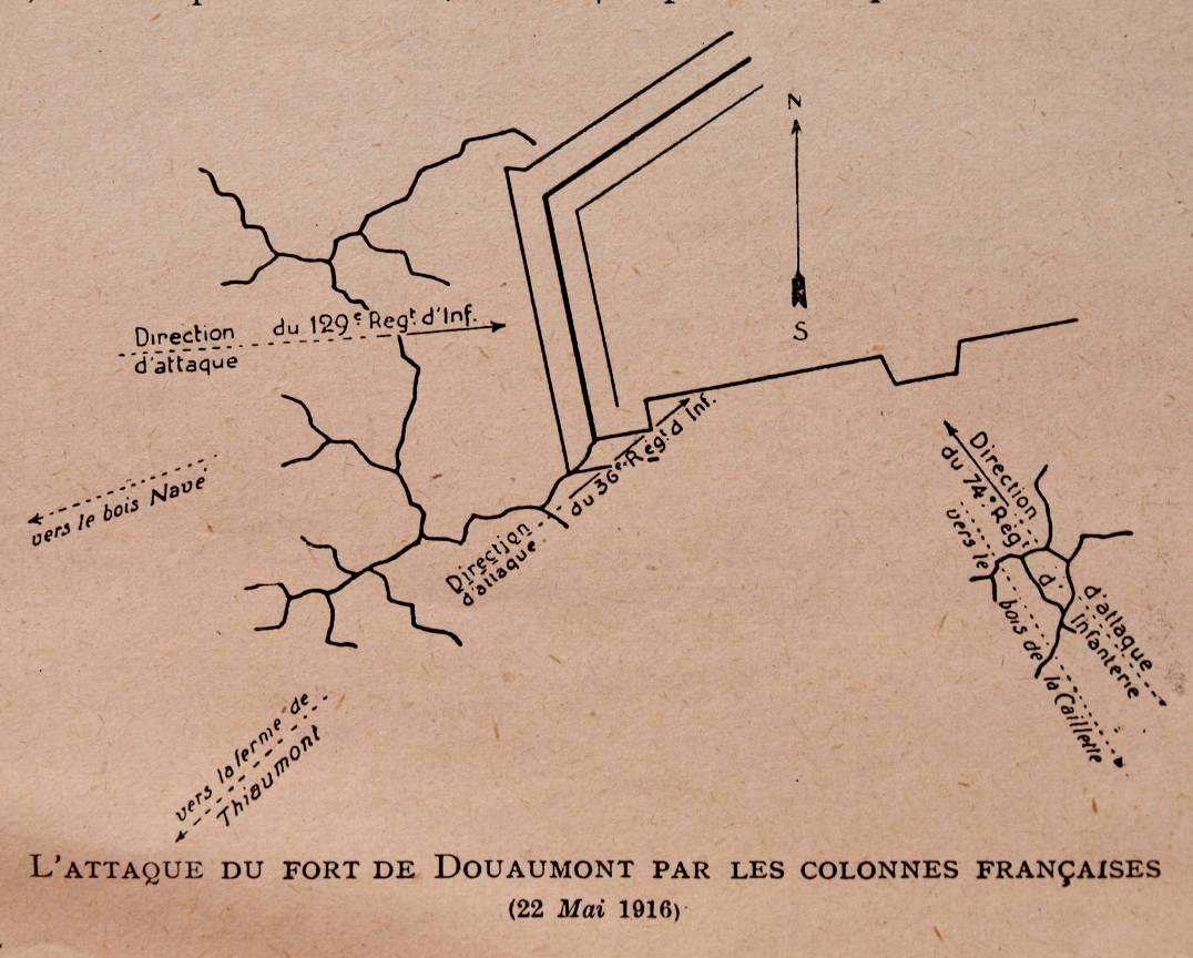 Douaumont attaque du fort 22 mai 1916