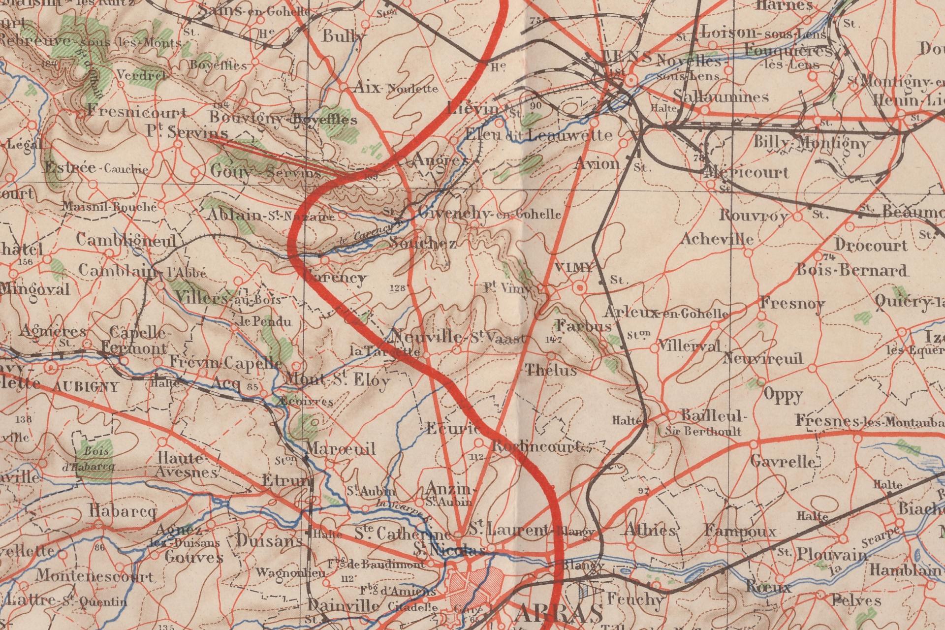 Front artois janvier 1915 secteur arras